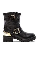 Heart Romance Boot in Nero Black Calf