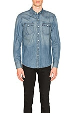LEVI'S Premium Barstow Western Shirt in Red Cast Stone
