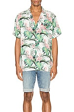 LEVI'S Premium Cubano Shirt in Flamingo Leaf & Cloud Dancer