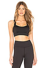 lilybod Mia Sports Bra in Black Noir