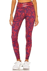 lilybod Nina Legging in Crimson Floral