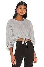 Maaji Long Sleeve Layer Sweatshirt in Icing Pewter