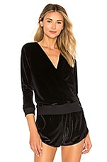 Maaji Velour Layer Pullover in Moonlight Black