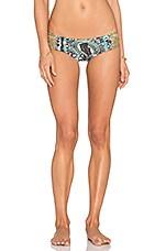 Strappy Bikini Bottom in Laurie Safari
