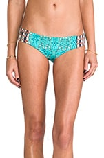 Bikini Bottoms in Emerald Butterflies