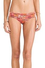 Bikini Bottoms in Tangerine Caravan