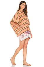 Beach Blanket Poncho en Orange Stripe