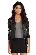 Mackage Florica Classic Leather Jacket in Black