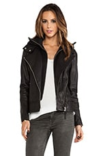 Kiera Removable Hood Jacket in Black