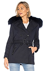 Mackage Frida Jacket With Fur Collar in Navy