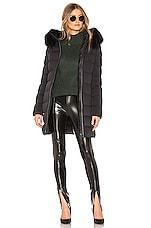 Mackage Calla Jacket With Fur Trim in Black