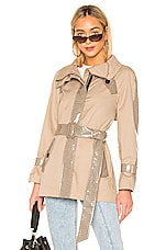 Mackage Iva Neotrench Jacket in Sand