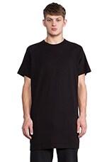 Long Slouch T-Shirt in Black