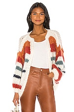 Maiami Mohair Big Cardigan in Creme & Copper