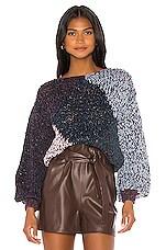 Maiami Tweedy Rhomb Sweater in Dark Purple Variation