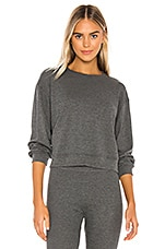MAISON DU SOIR Crew Neck Thermal in Charcoal Thermal