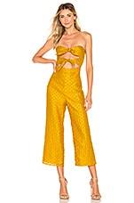 MAJORELLE Tessa Jumpsuit in Mustard Yellow