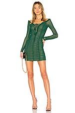 MAJORELLE Darling Dress in Emerald