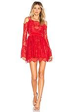 MAJORELLE Courtney Dress in Crimson