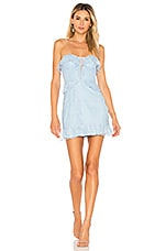 MAJORELLE Virginia Dress in Dusty Blue