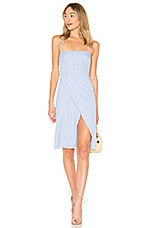MAJORELLE Mila Dress in Blue Check