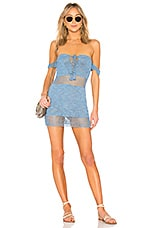 MAJORELLE Miles Dress in Dusty Blue