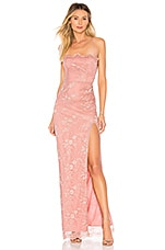 MAJORELLE Tavi Gown in Blush & Silver