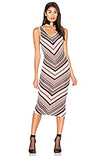 Sahara Dress in Lurex Stripe