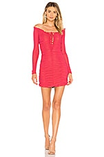 MAJORELLE Darling Dress in Pink Coral