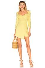 MAJORELLE Micha Mini Dress in Buttermilk Yellow