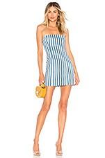 MAJORELLE Pearson Dress in Blue Jean Stripe