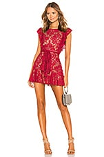 MAJORELLE Marnie Mini Dress in Cranberry Red