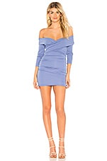 MAJORELLE Cypress Mini Dress in Periwinkle Blue