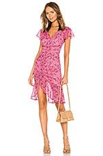 MAJORELLE Elaine Midi Dress in Pink Baybreeze