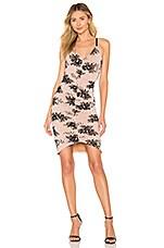 MAJORELLE Loreli Midi Dress in Pink Romance