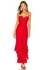 MAJORELLE Eduarda Gown in Red Rose