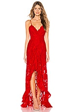 MAJORELLE Paisley Dress in Red Rose