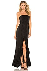 MAJORELLE Laine Gown in Black