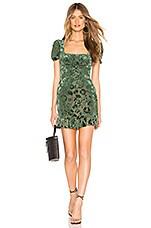 MAJORELLE Carla Mini Dress in Emerald Green