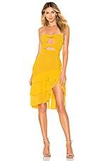 MAJORELLE Emelia Midi Dress in Sunshine Yellow