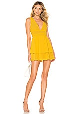 MAJORELLE Dora Mini Dress in Sunshine Yellow