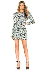 MAJORELLE Belinda Mini Dress in Blue Multi