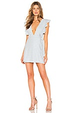 MAJORELLE Teddy Dress in Baby Blue Check