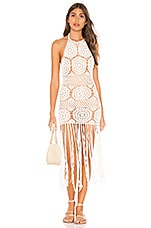 MAJORELLE Amy Crochet Dress in White