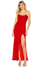 MAJORELLE Lavinia Gown in Racing Red