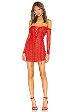 MAJORELLE Darling Dress in Red
