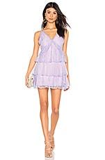 MAJORELLE Nylah Mini Dress in Amethyst Purple