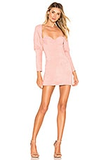 MAJORELLE Bria Mini Dress in Pink Mauve