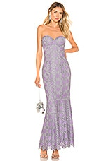 MAJORELLE Balfour Gown in Purple & Silver