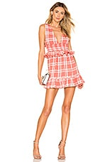 MAJORELLE Paradise Mini Dress in Red Plaid